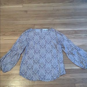 Violet + Claire 3/4 Sleeve Sheer Blouse Large
